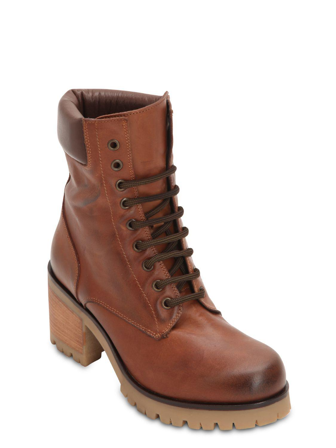 Collections Inexpensive Cheap Price Strategia 70MM VINTAGE LEATHER HIKING BOOTS Best Seller Sale Online vQm4FtAU