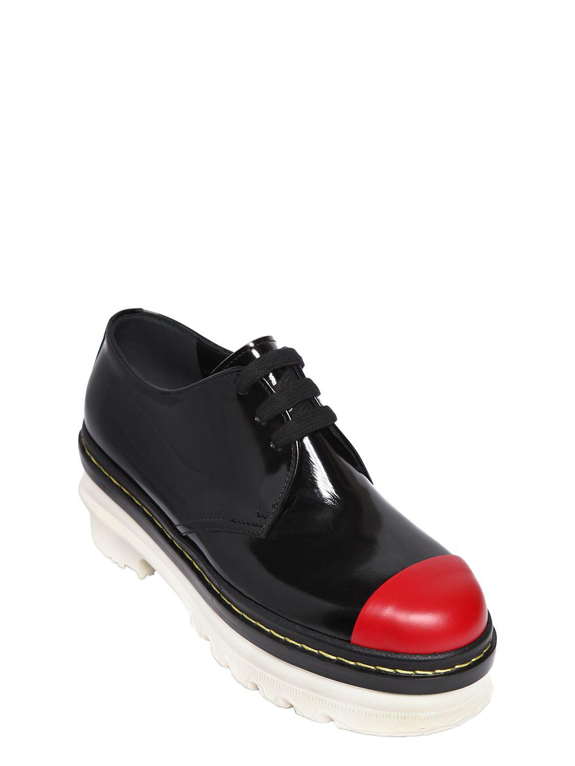 Marni 50MM BRUSHED LEATHER LACE-UP SHOES DjG0f