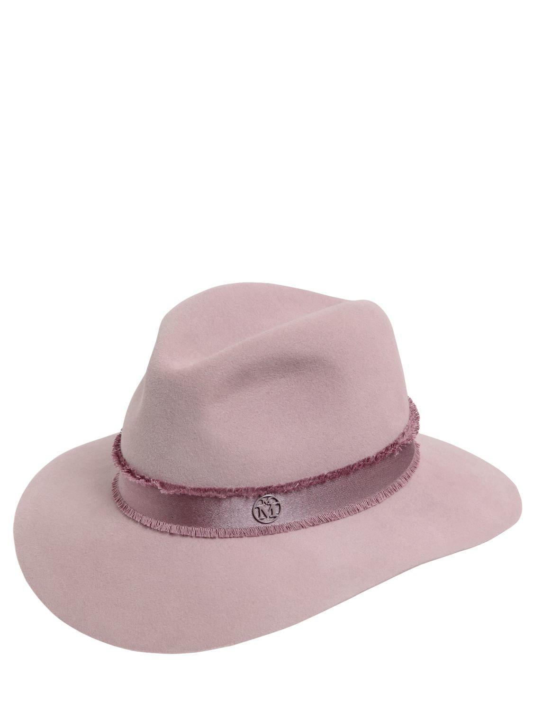 44e7931094f0d7 Maison Michel Henrietta Rabbit Fur Felt Hat in Pink - Lyst