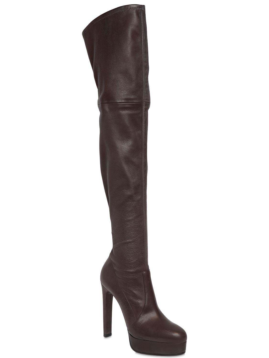 c13d56b3635 Casadei - Black 120mm Nappa Leather Over The Knee Boots - Lyst. View  fullscreen