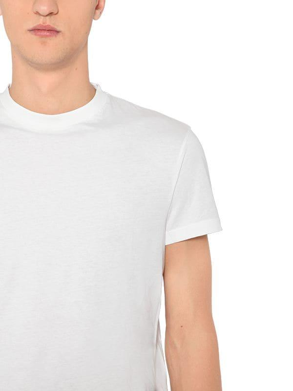 061416b0c Prada 3 Pack Cotton Jersey T-shirts in White for Men - Lyst
