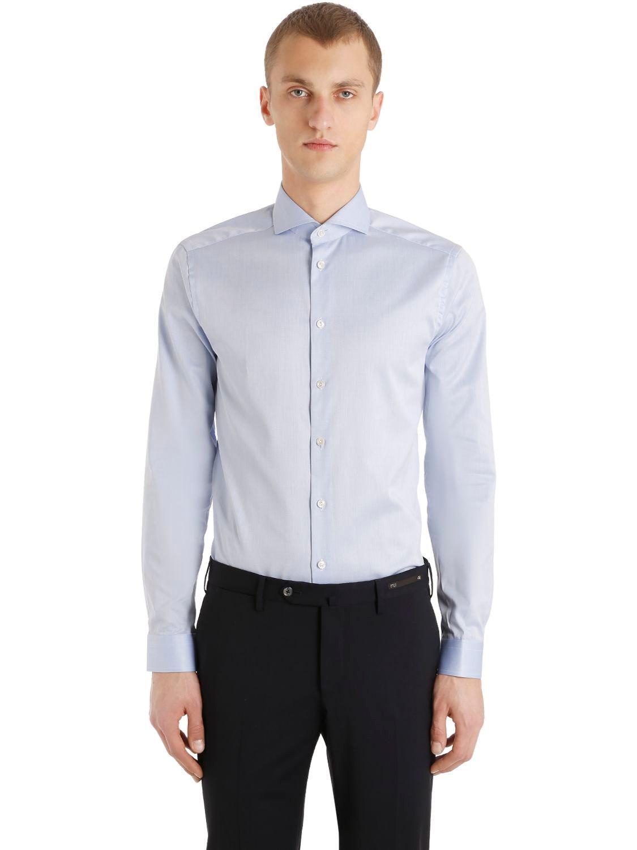 Lyst Eton Of Sweden Super Slim Fit Pure Cotton Shirt In