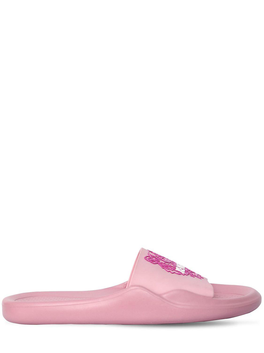 fecfc822304f Lyst - Kenzo 20mm Tiger Pool Slide Sandals in Pink