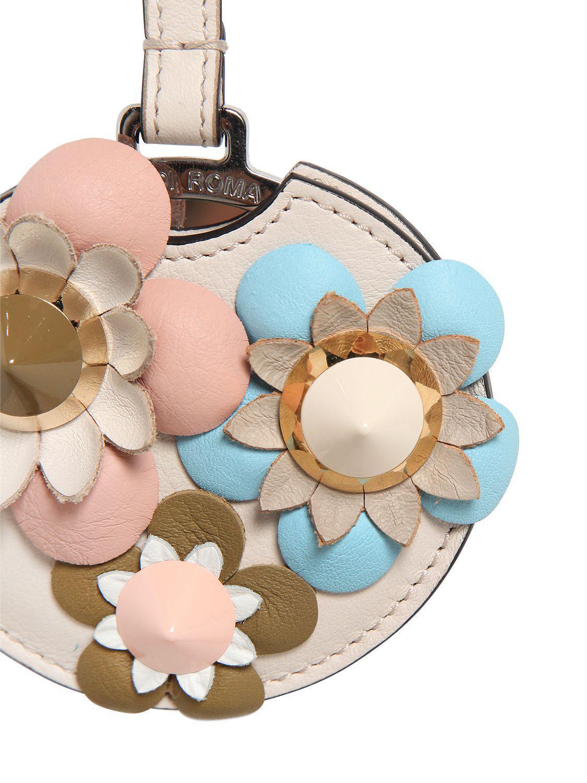 Lyst - Charm De Sac Avec Miroir Et Fleurs Appliquées Fendi en ... 3020c9b4094