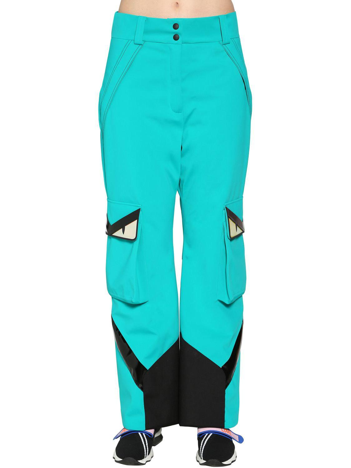 Lyst - Fendi Monster Stretch Tech Stirrup Ski Pants in Blue 9bc994f34