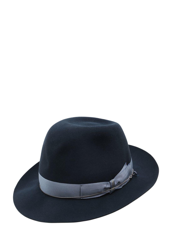 367551e021e Borsalino 50gr Lightweight Fur Felt Hat in Blue for Men - Lyst