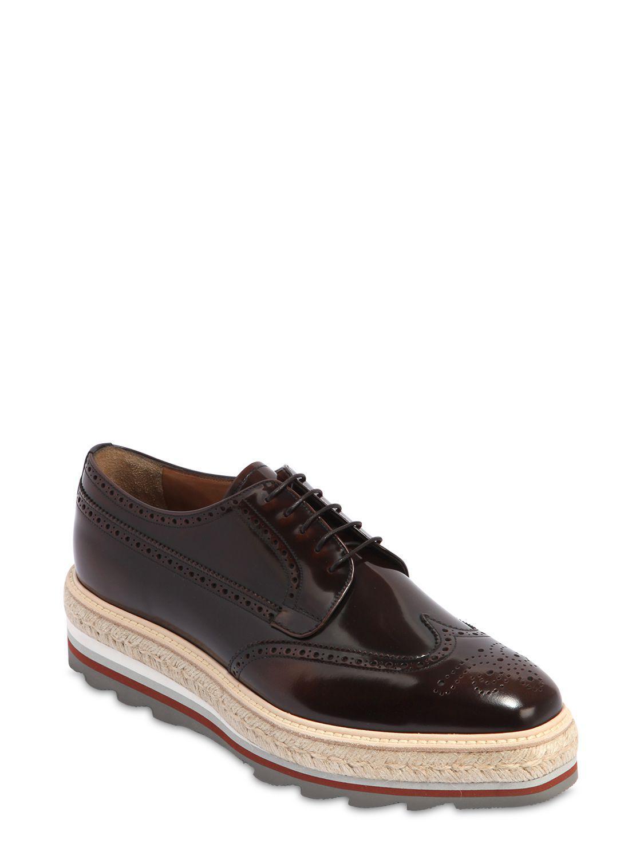 color de piel Prada Zapatos Marrón de Lyst Opposite hombre derby de  q8znRSfwn 5239eda0d3