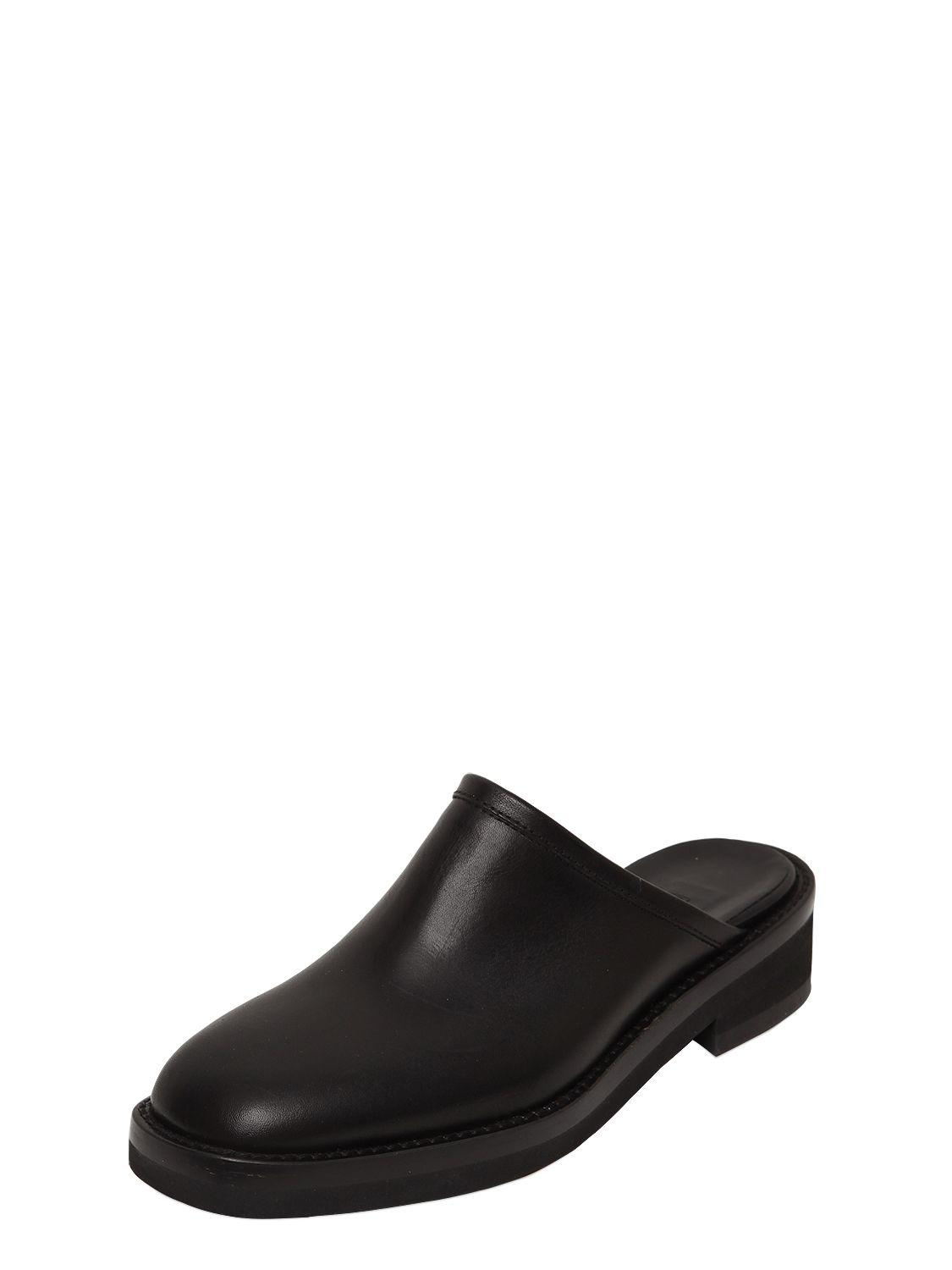 ANN DEMEULEMEESTER 40MM LEATHER MULES w0N7BrZF