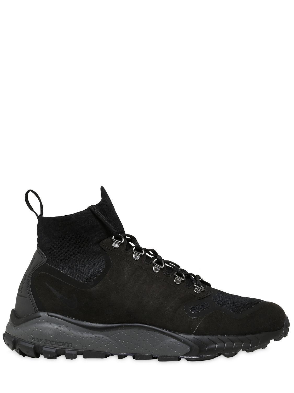 Nike. Men's Black Air Zoom Talaria Mid Flyknit Sneakers