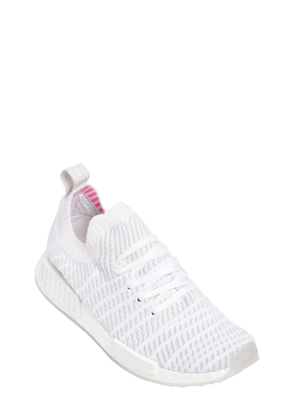 ab55bab161087 Lyst - adidas Originals Nmd R1 Stlt Primeknit Sneakers in White