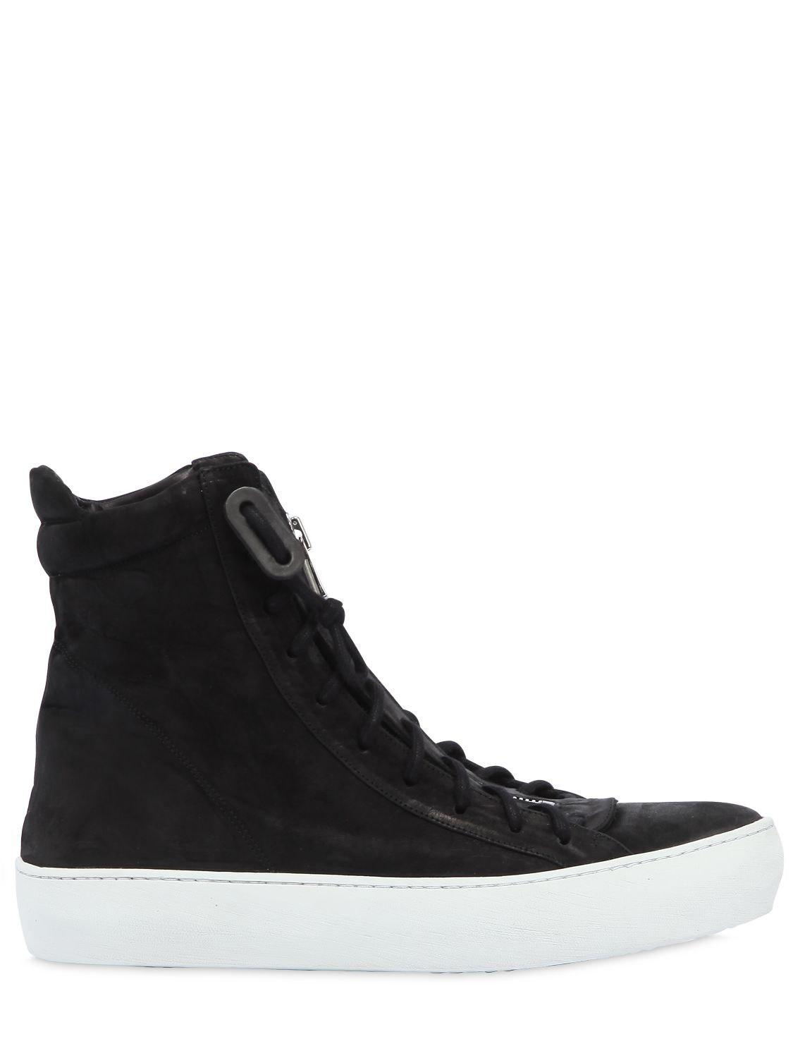 The Last ConspiracyWAXED SUEDE HIGH TOP ZIP UP SNEAKERS KAh9fhw