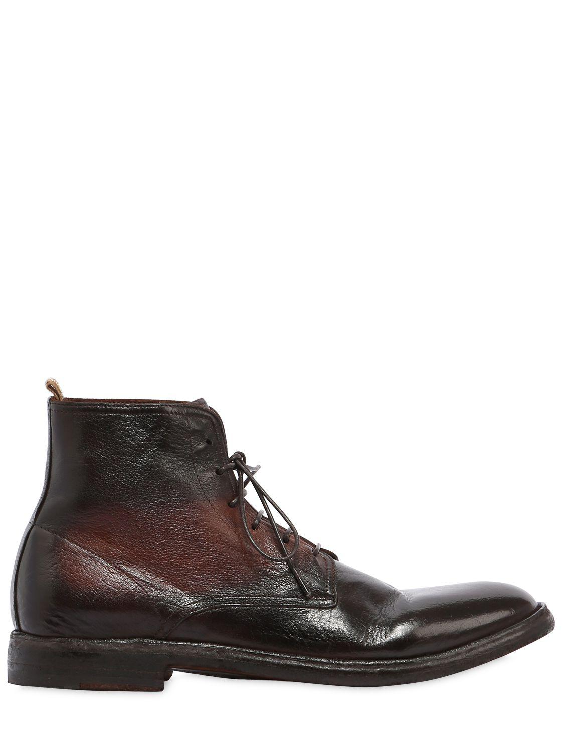8944eb51370dd Lyst - Officine Creative Leather Lace-up Boots in Brown for Men ...