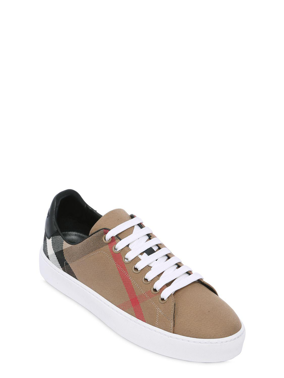 Burberry 20MM CLASSIC CHECK CANVAS SNEAKERS Sale Wide Range Of HvZZAGVv