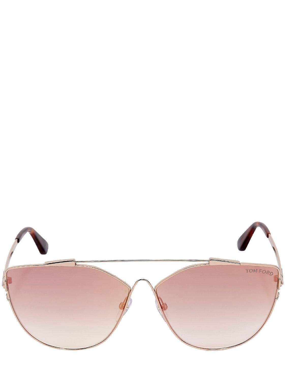 25bc6151af Tom Ford Jacquelyne Cat-eye Sunglasses in Metallic - Lyst