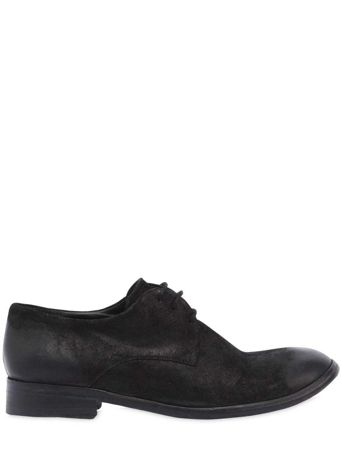 The Last Conspiracy WAXED SUEDE LACE-UP SHOES qcryv4KnMV