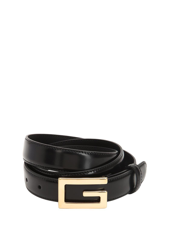 b205d07cbaf Lyst - Gucci 25mm G-cube Leather Belt in Black for Men