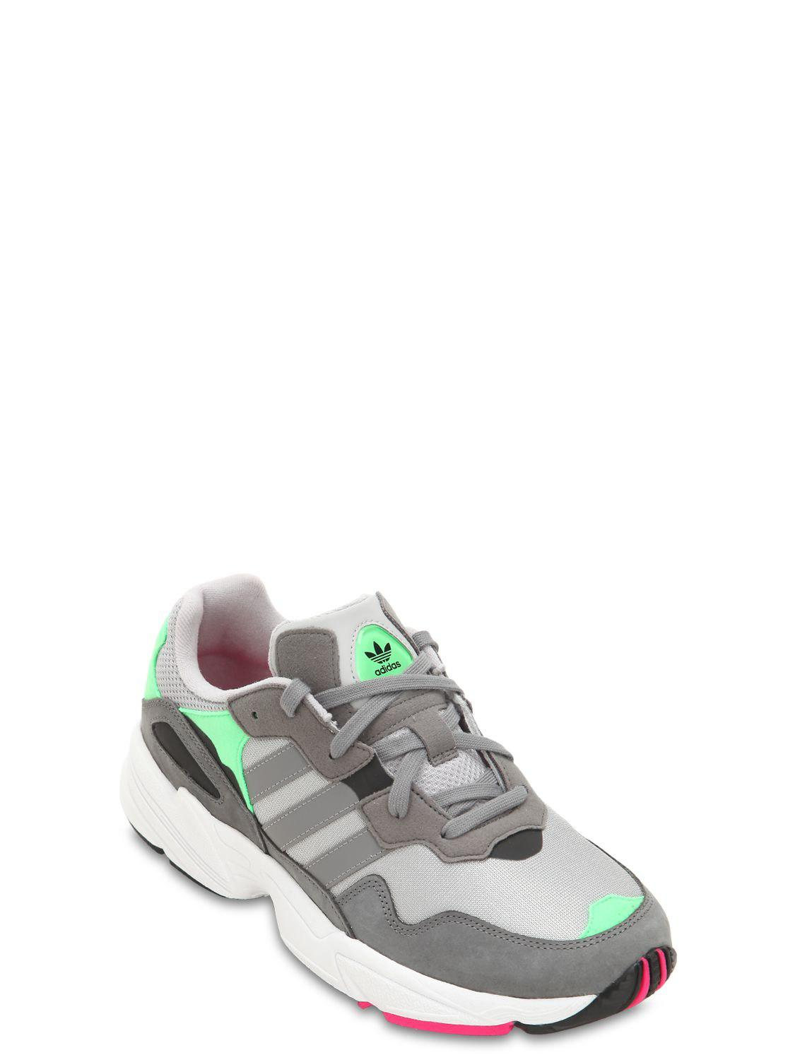 the latest 09756 20814 adidas Originals Yung-96 Leather   Mesh Sneakers in Gray for Men - Lyst