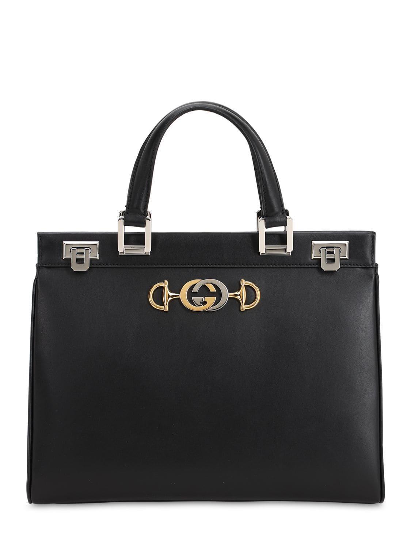 69b311d70 Lyst - Gucci Medium Zumi Shibuya Leather Bag in Black