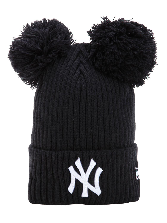 KTZ Ny Yankees Beanie Hat W  Popmpoms in Blue - Save 52% - Lyst 03f5a44483da