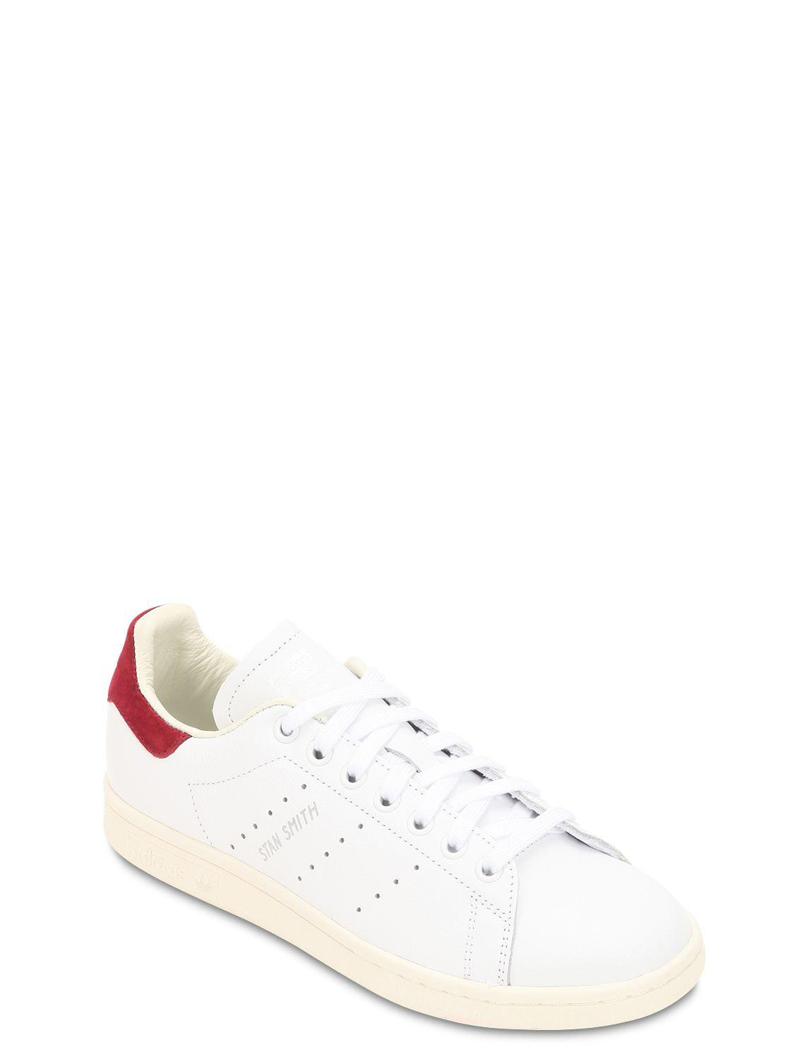 size 40 cf70f 08ae1 ... coupon for adidas originals white stan smith leather sneakers lyst.  view fullscreen 6ead3 eaf1f