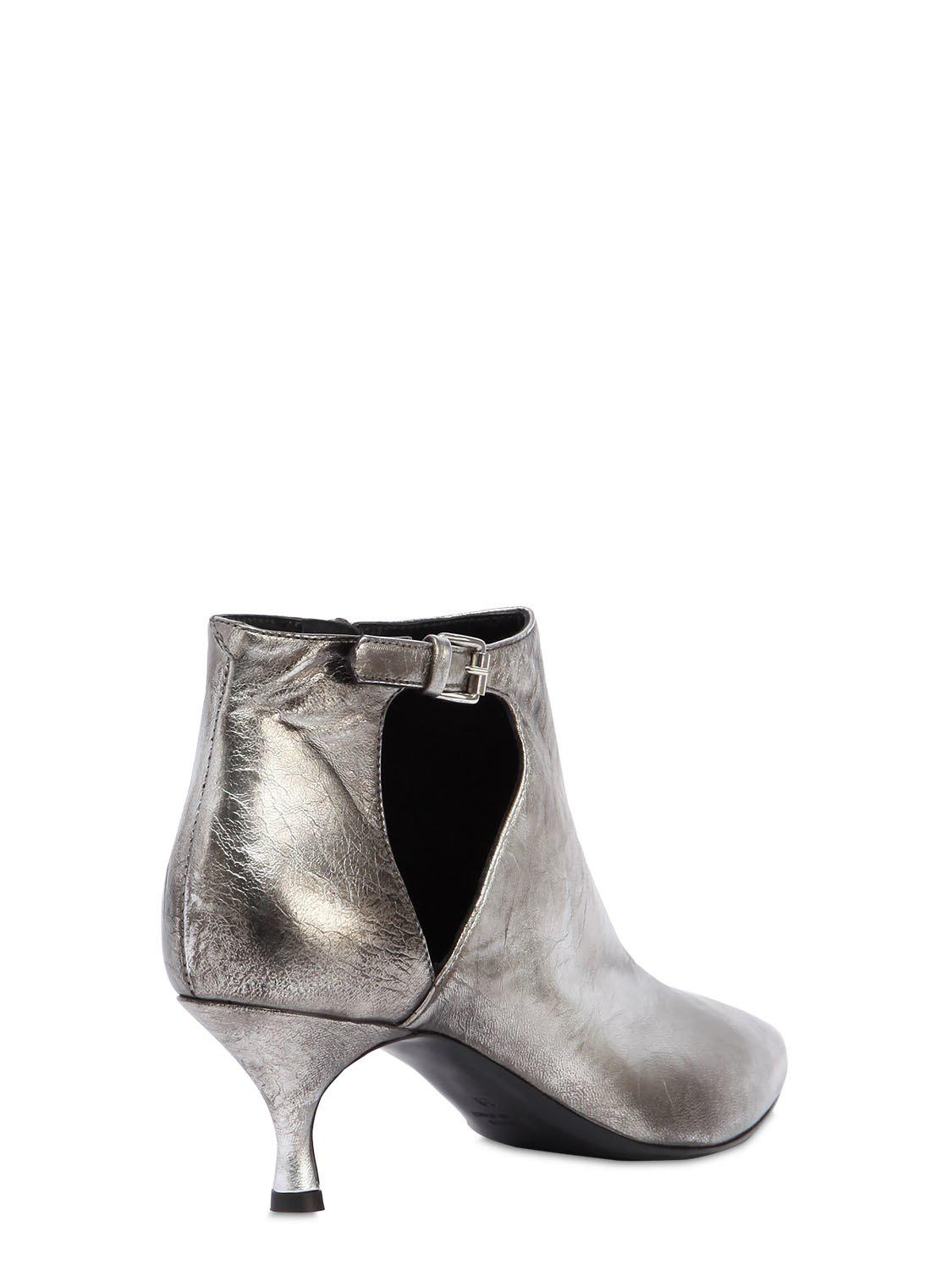 Strategia 50MM METALLIC LEATHER ANKLE BOOTS