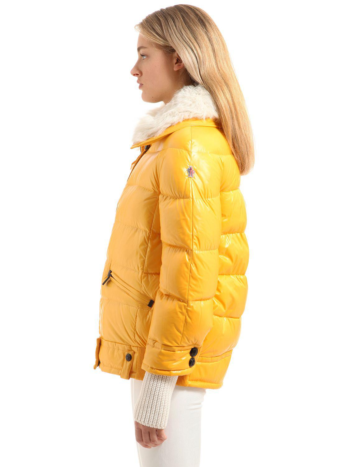 Lyst Moncler Grenoble Arabba Nylon Amp Shearling Down