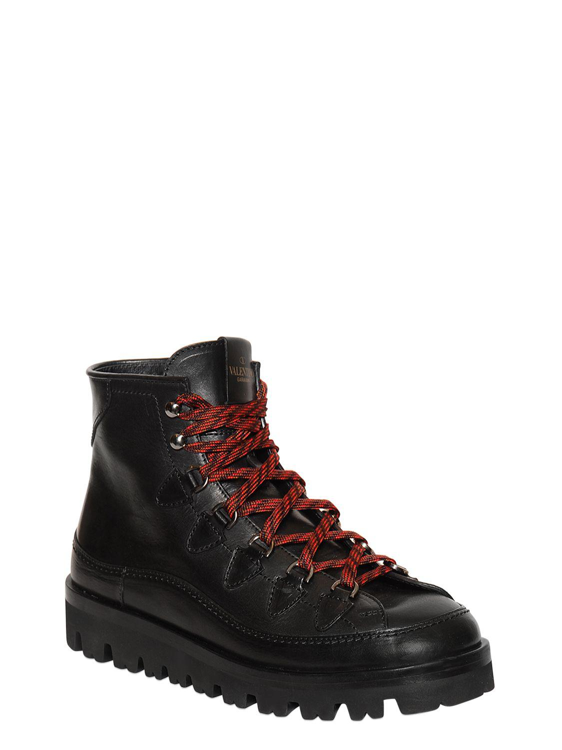 Valentino Brown Hiking Boots