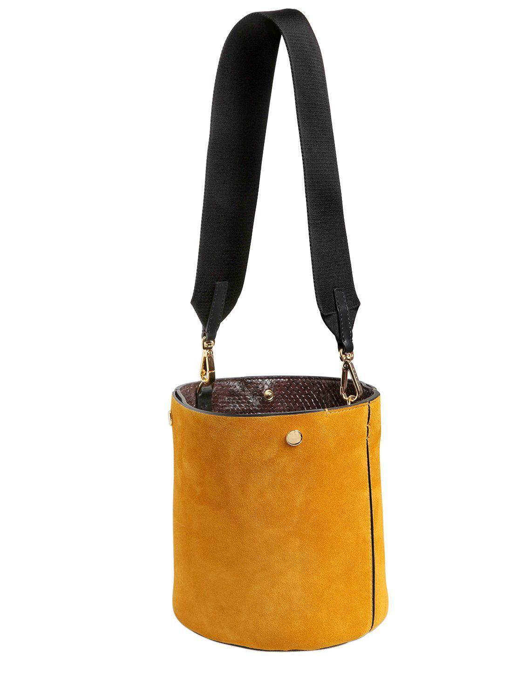 Pannier Small Suede Bucket Bag - Yellow Marni scGSkyr