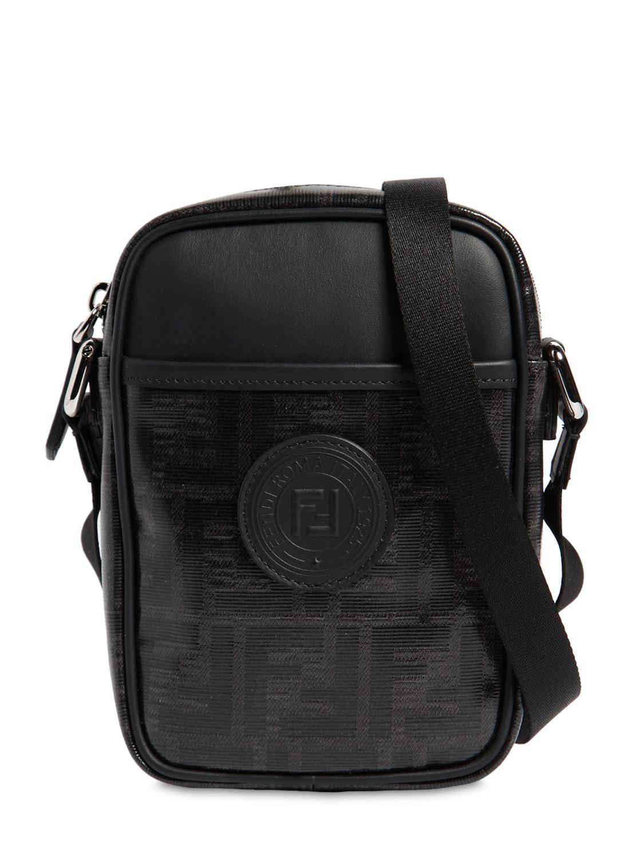 9cef377743e6 Fendi Logo Print Cross Body Bag in Black for Men - Lyst