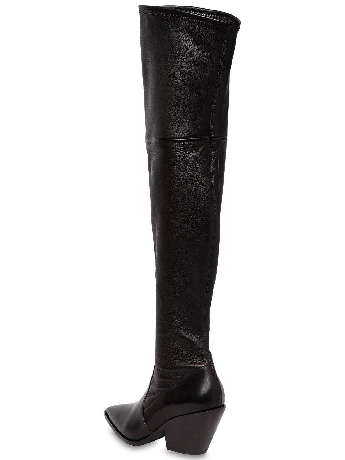Casadei60MM WEST STRETCH LEATHER CUISSARDE BOOT sawDHe