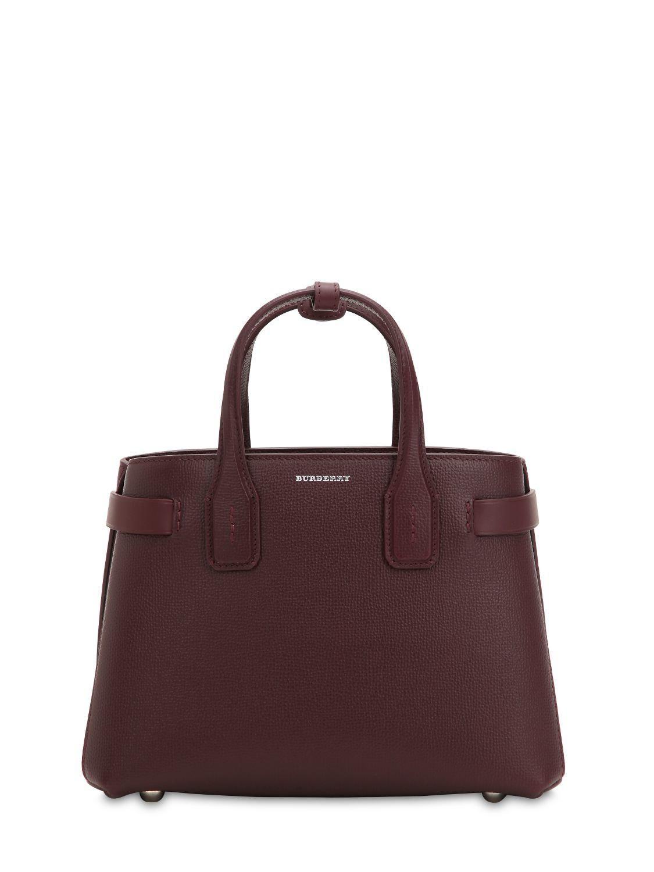 f9ffd3ba6ddd Burberry Small Banner Leather Bag W  Check Strap - Lyst