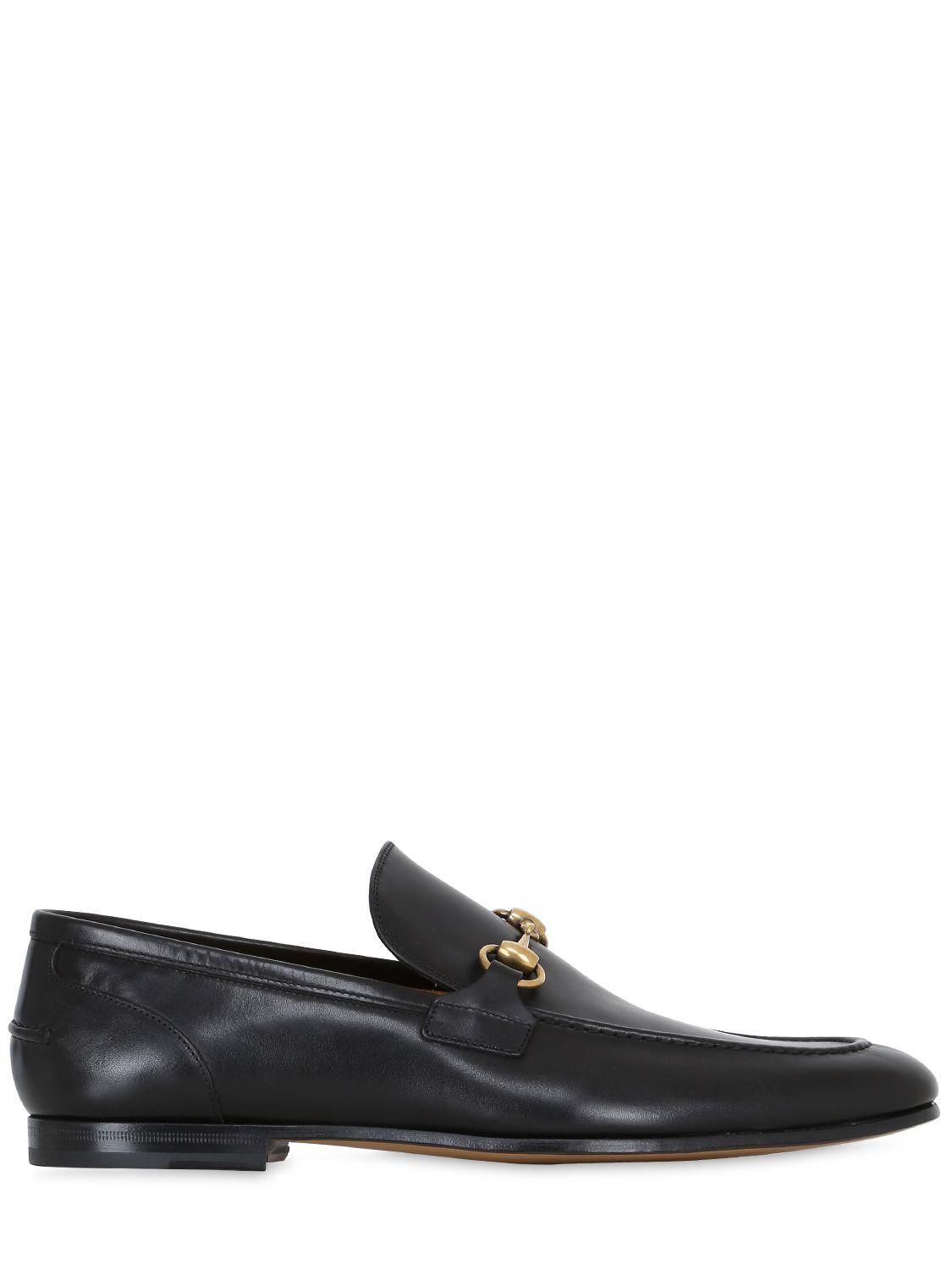 b64aad75c Gucci Jordaan Horsebit Leather Loafers in Black for Men - Lyst