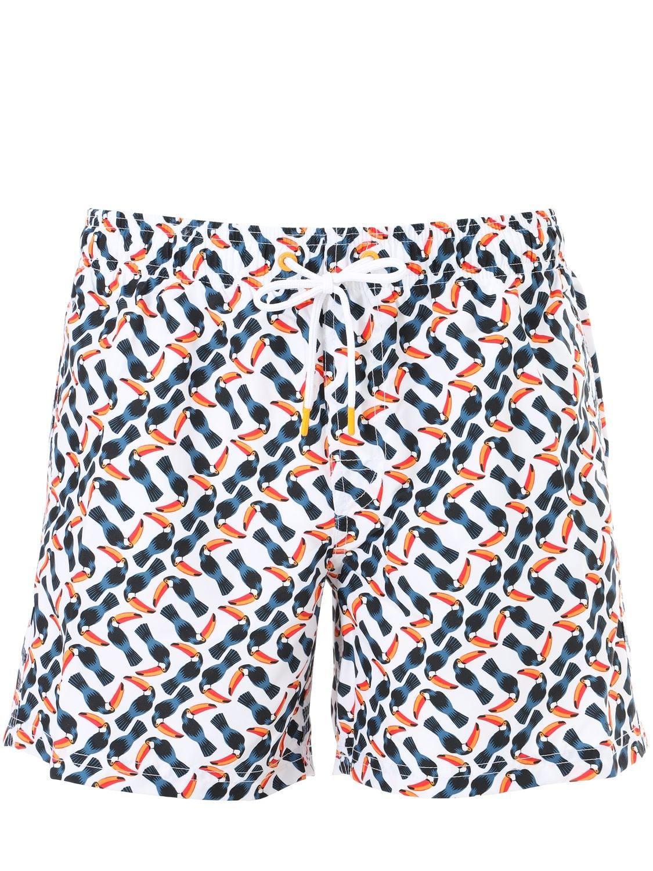 5157cef896 Sundek - Blue Toucan Print Nylon Swim Shorts for Men - Lyst. View fullscreen