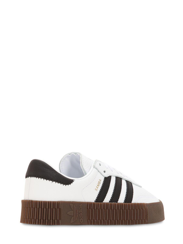 8b5e53f656366e Adidas Originals - White Samba Rose Bold Platform Sneakers - Lyst. View  fullscreen