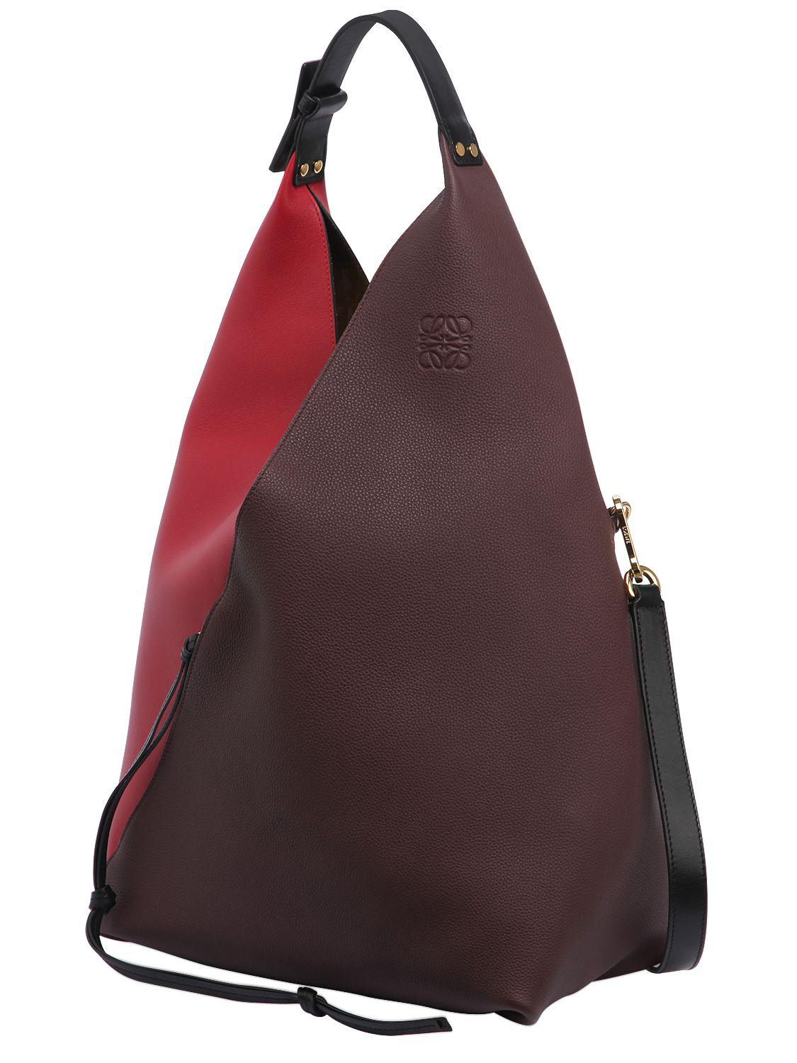 2c3ee5b2a Loewe Color Block Sling Leather Hobo Bag in Red - Lyst