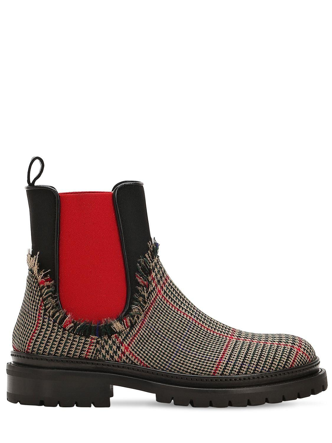 223f17aa82cb Lyst - L Autre Chose 20mm Wool Price Of Wales Chelsea Boots in Red