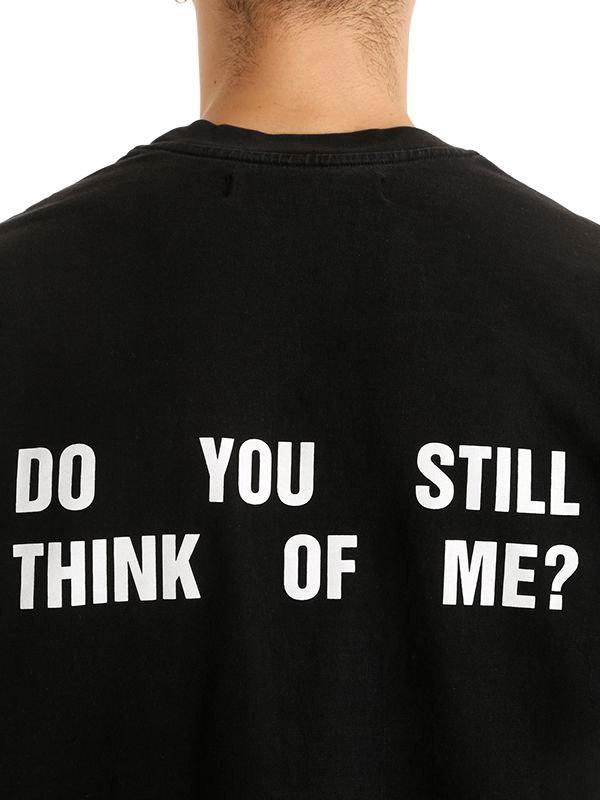 Lyst Misbhv Do You Still Think Of Me Jersey T Shirt In Black For Men