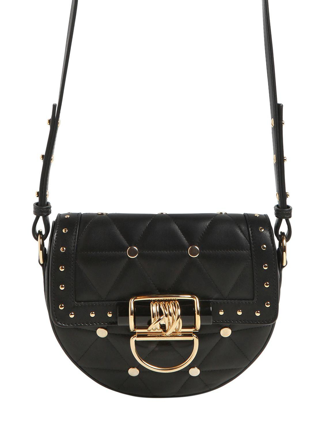 Balmain MEDIUM QUILTED LEATHER BAG W/ STUDS V4SGsEE