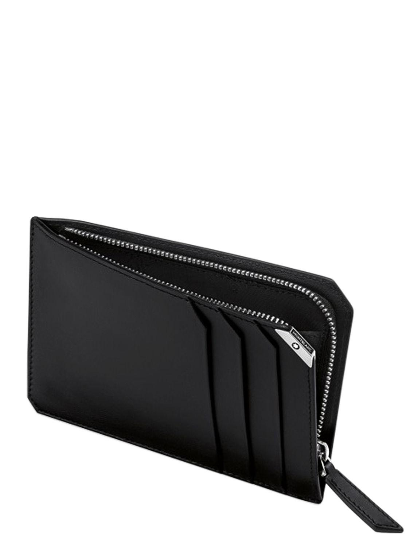 montblanc black urban spirit leather zip card holder for men lyst view fullscreen - Mont Blanc Card Holder