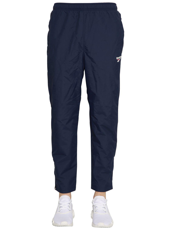 bc2bcbd8f716 Lyst - Reebok Nylon Track Pants in Blue for Men