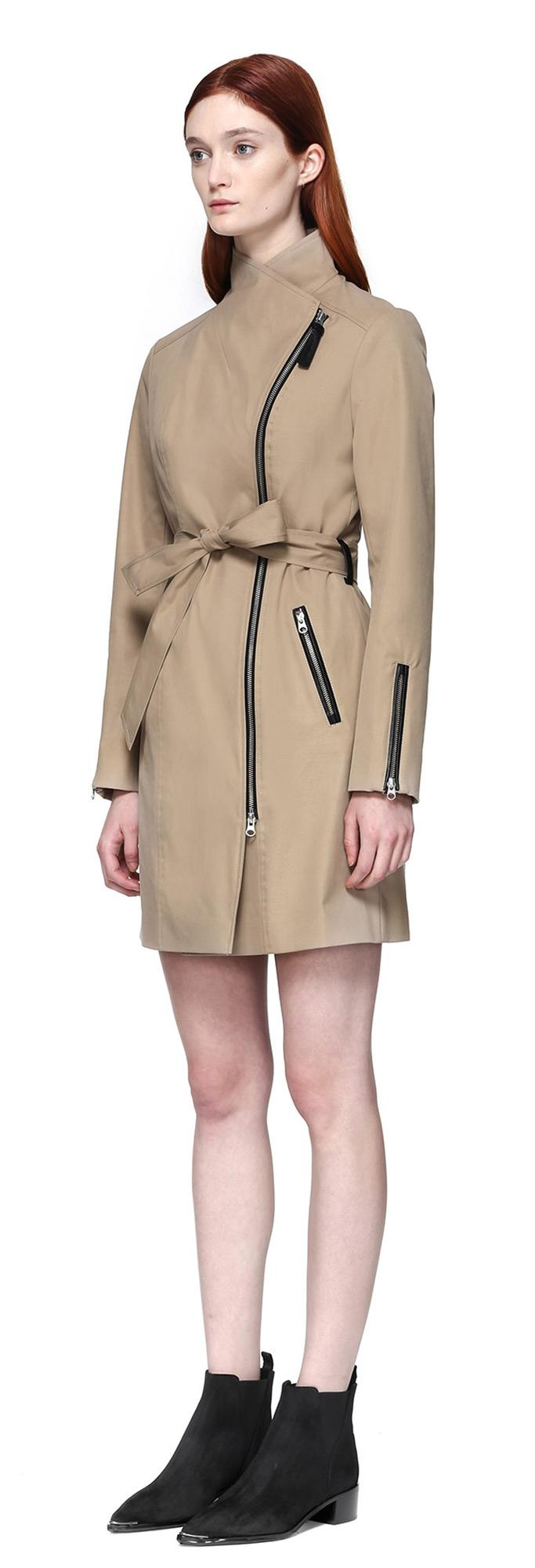 Fall And Winter Coats For Women Outerwear London Fog - Belted Trench Coat Women - Tradingbasis