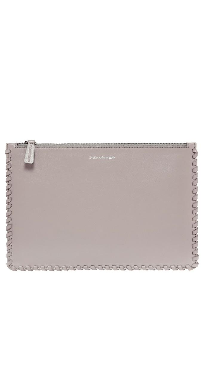 Lyst Mackage Port Large Leather Pouch In Mineral
