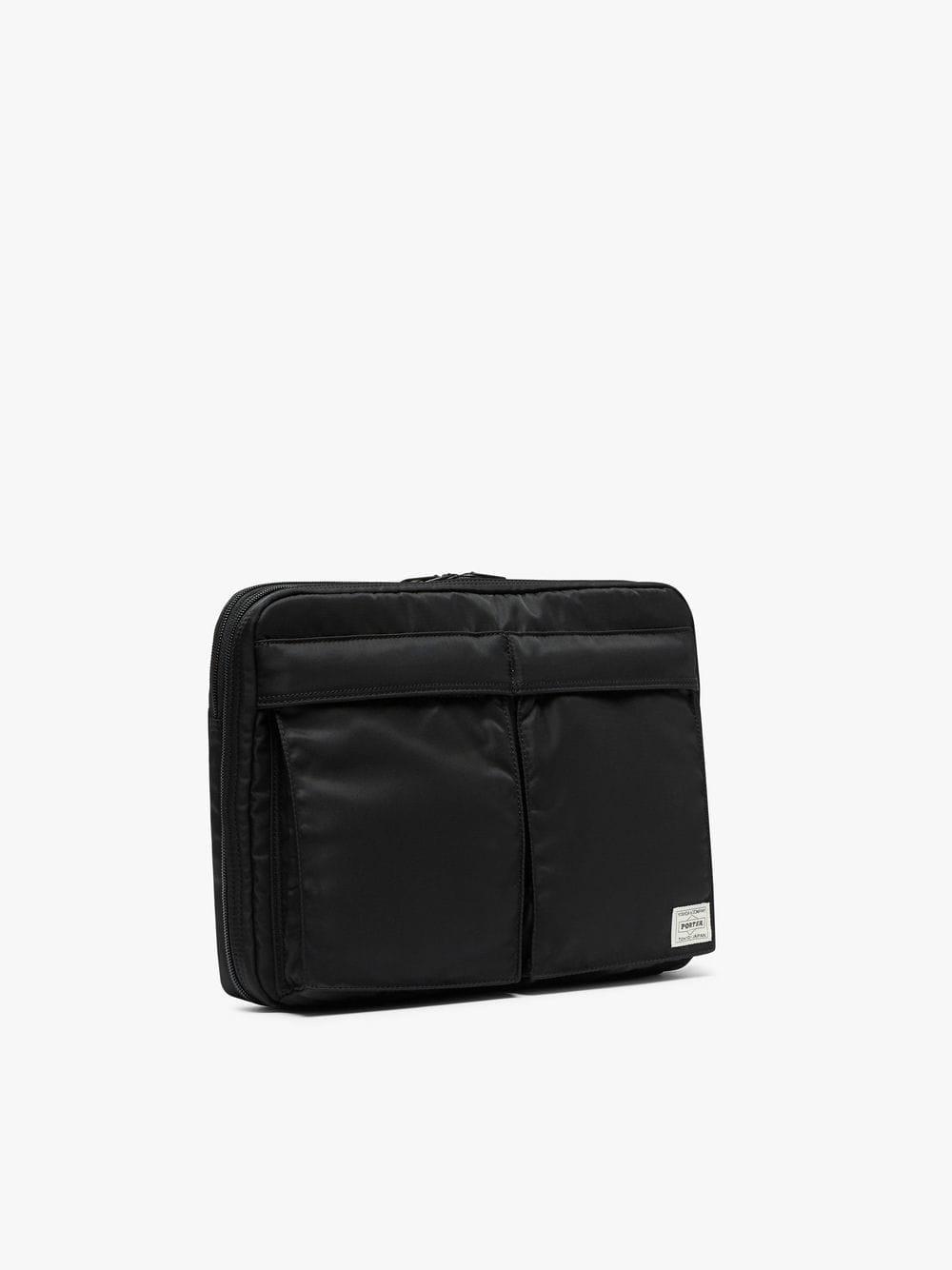 c72326d446a4 Lyst - Mackintosh Black X Shepard Check Porter A4 Clutch Bag in Black