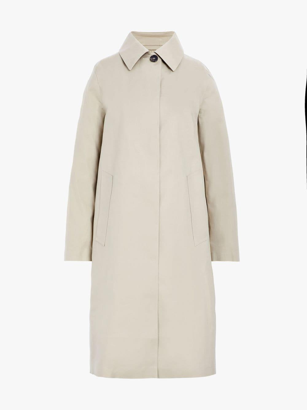 e40fee5aa Lyst - Mackintosh Fawn Bonded Cotton Coat Lr-020d in Natural