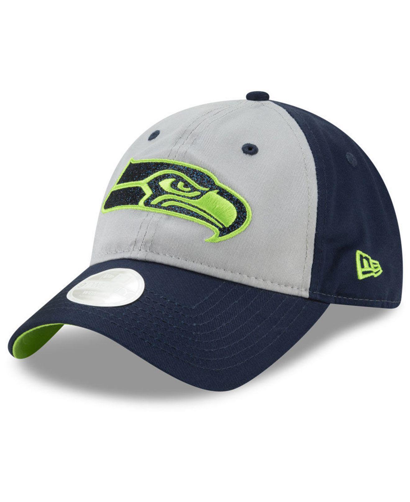 75417d13 Lyst - KTZ Seattle Seahawks Gray Glitter 9twenty Cap in Blue