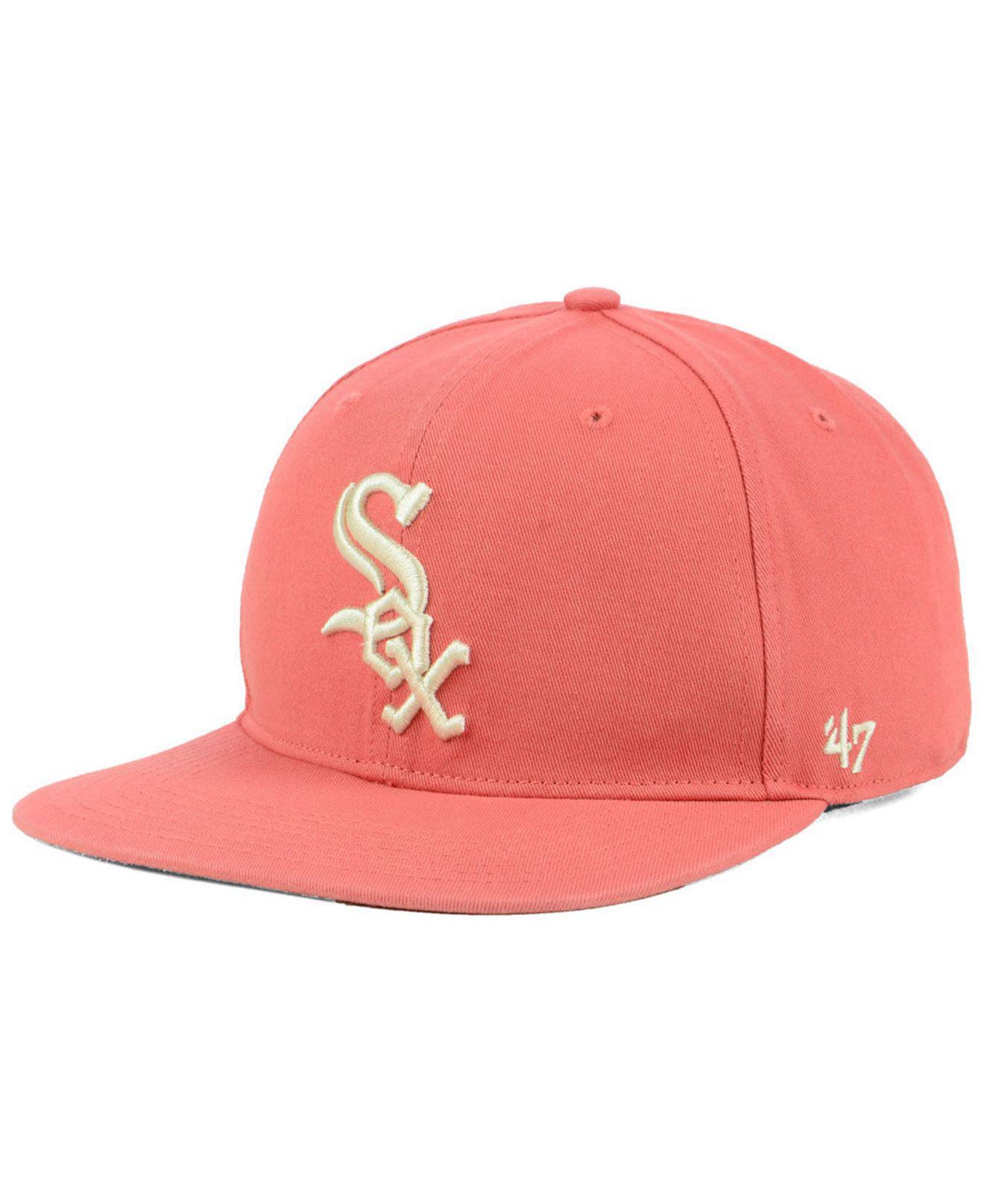 sale retailer 82d0c 46b93 ... canada 47 brand. mens pink chicago white sox island snapback cap df4c7  99dd1
