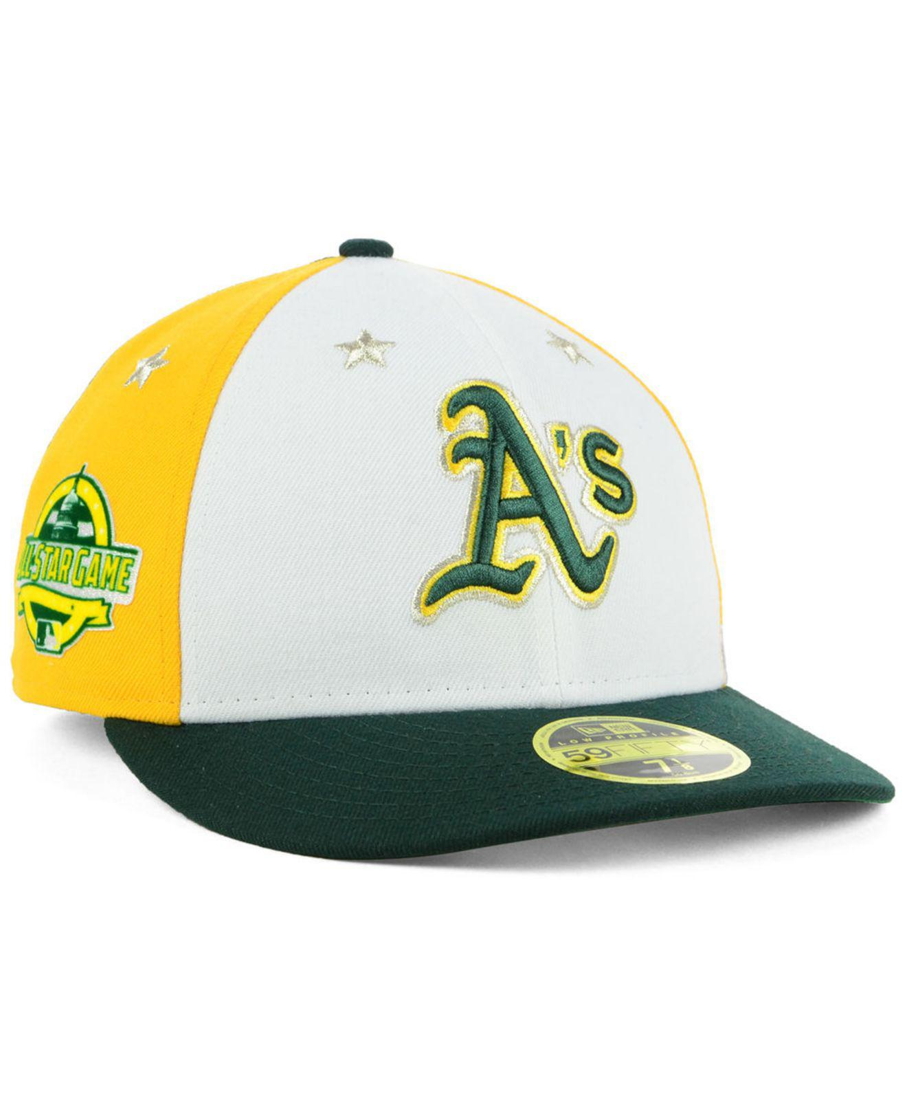 newest a16ee bc2a1 ... cheap era low profile 59fifty fitted hat lyst ktz oakland athletics all  star game patch low