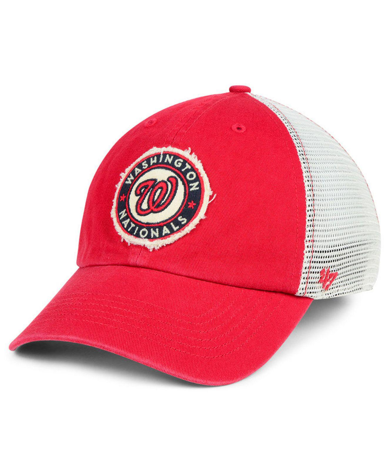 newest 8dbf5 edc28 ... australia 47 brand. mens red washington nationals tally closer stretch  fitted cap 862f1 5a432