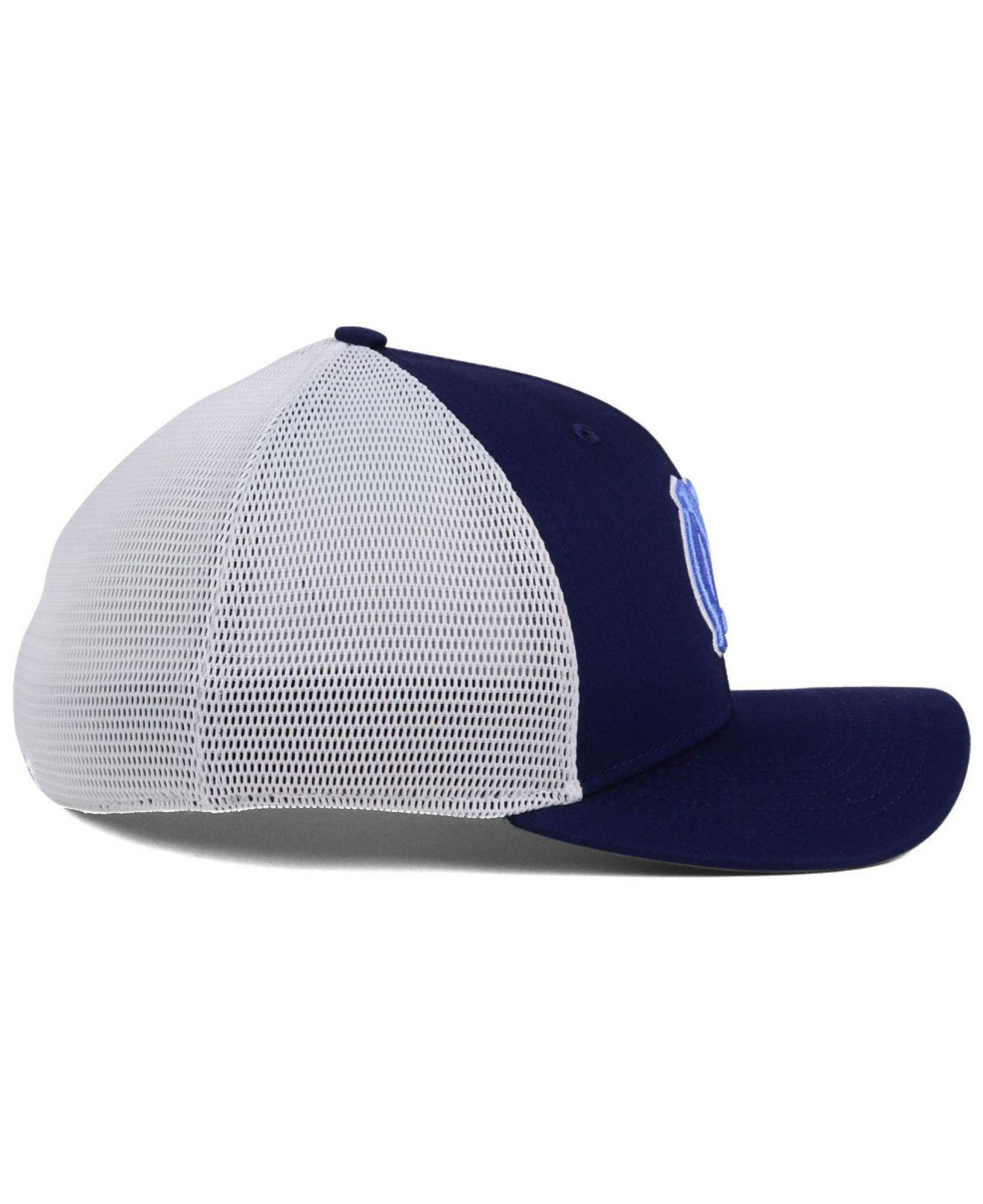 buy popular 1ed18 7acd5 ... real nike blue ncaa aero bill mesh swooshflex cap for men lyst. view  fullscreen 1b5e9