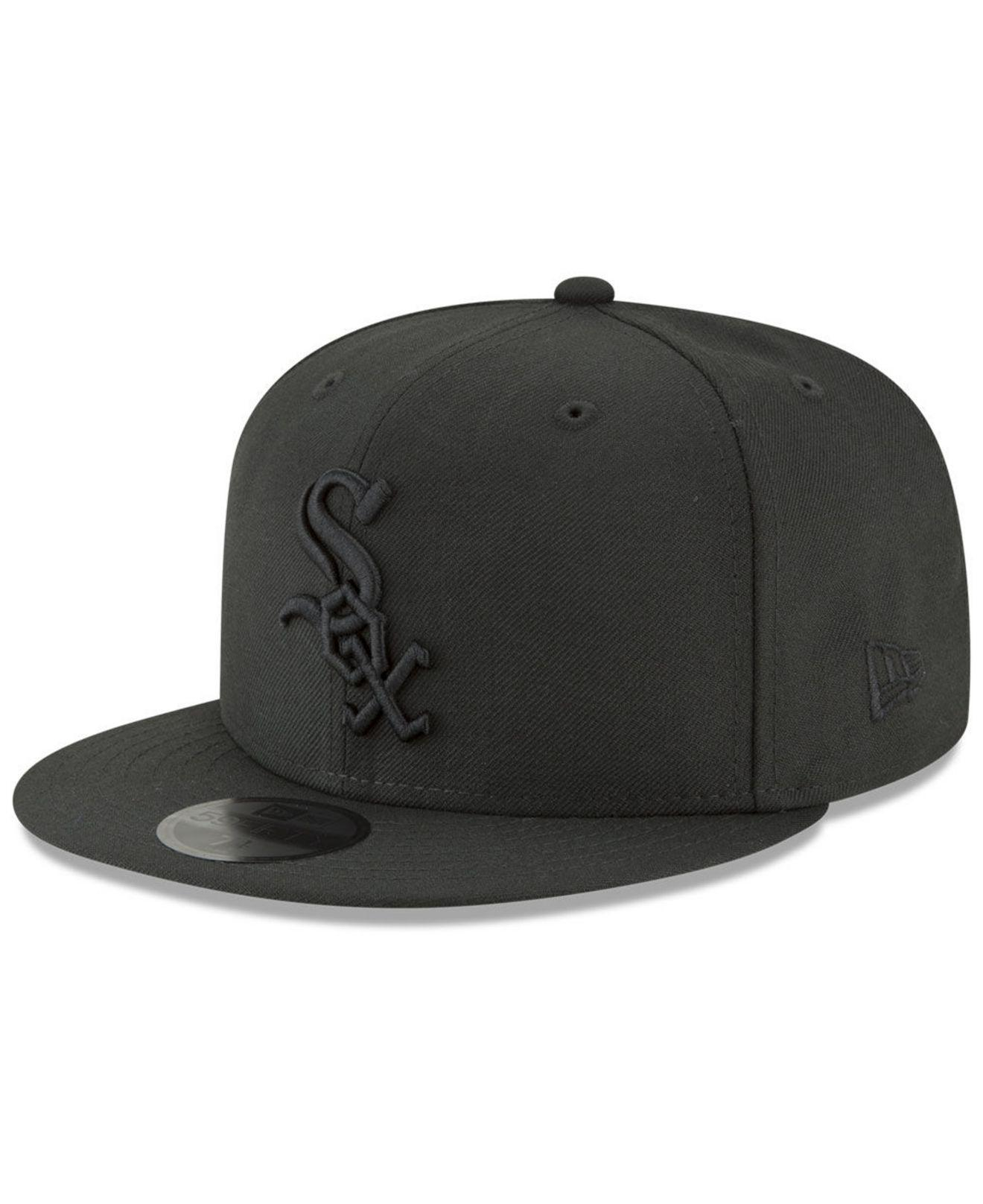 cheap for discount 9c2db 48589 ... snapback black d1a8d 522ff  shopping ktz chicago white sox blackout  59fifty fitted cap for men lyst. view fullscreen 3a283